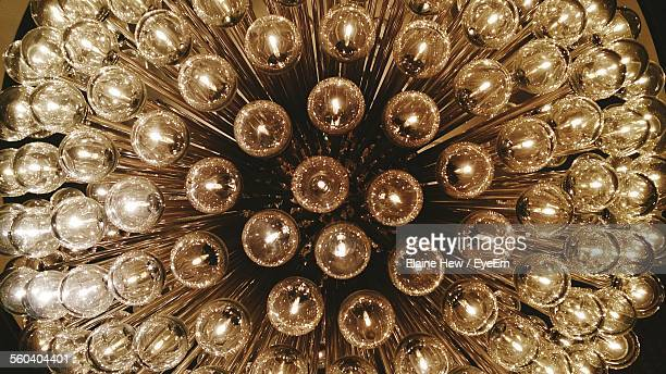 Low Angle View Of Lit Chandelier