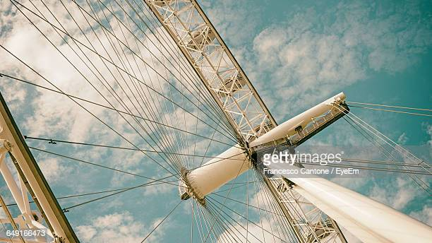 Low Angle View Of London Eye Against Sky