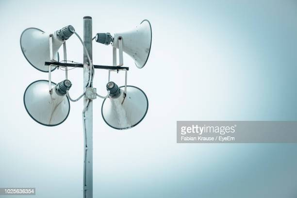 Low Angle View Of Loudspeakers On Street