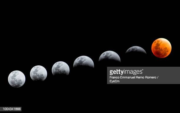 low angle view of lunar eclipse - moon stock pictures, royalty-free photos & images