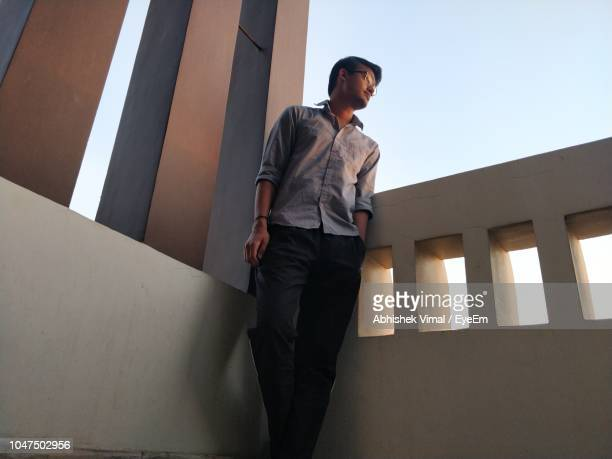 Low Angle View Of Man Standing