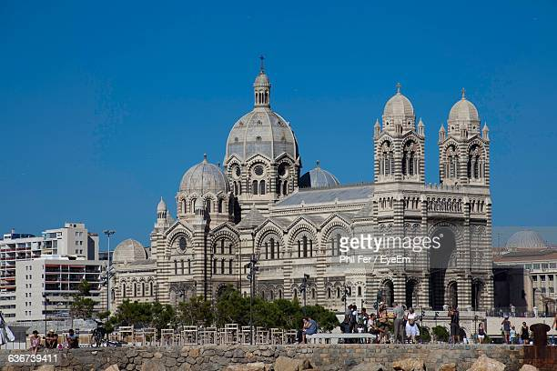Low Angle View Of Marseille Cathedral Against Clear Sky
