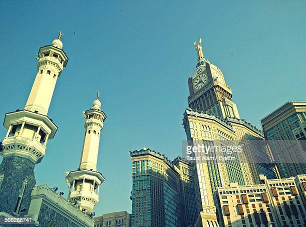 Low Angle View Of Masjid Al-Haram Against Clear Sky