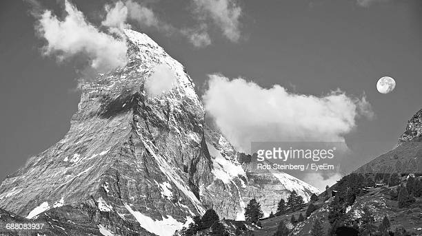 Low Angle View Of Matterhorn Against Sky