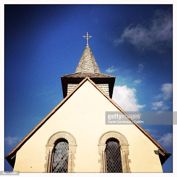Low Angle View Of Medieval Church Against Sky
