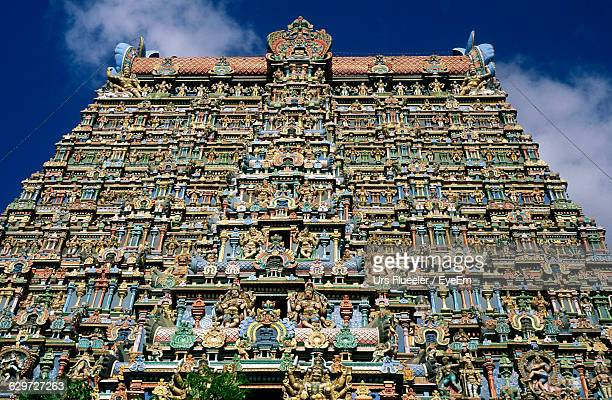 Low Angle View Of Meenakshi Amman Temple Against Sky