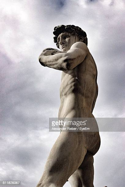 Low angle view of Michelangelos David statue