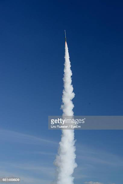 Low Angle View Of Missile Taking Off In Sky