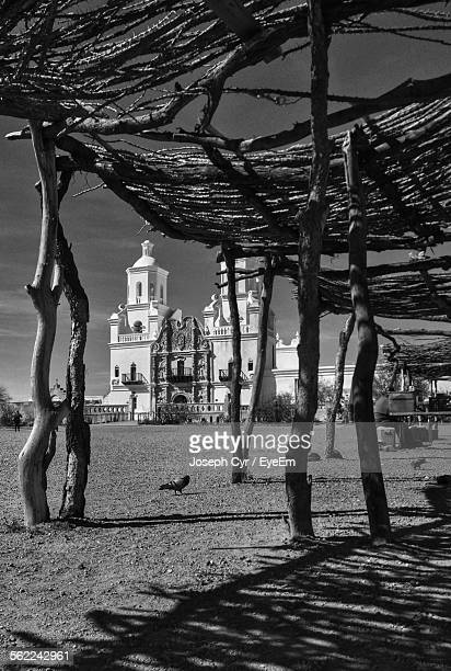Low Angle View Of Mission San Xavier Del Bac