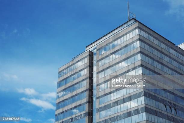low angle view of modern building against sky - drazen stock pictures, royalty-free photos & images