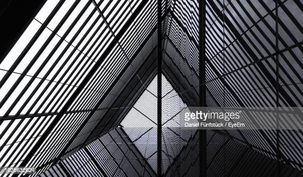 low angle view of modern building - london architecture stock pictures, royalty-free photos & images