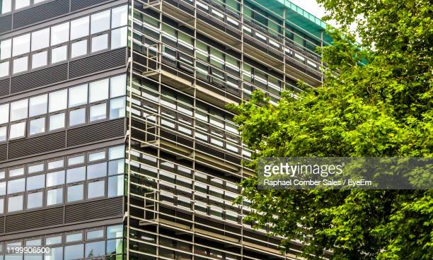 low angle view of modern building - leicester stock pictures, royalty-free photos & images