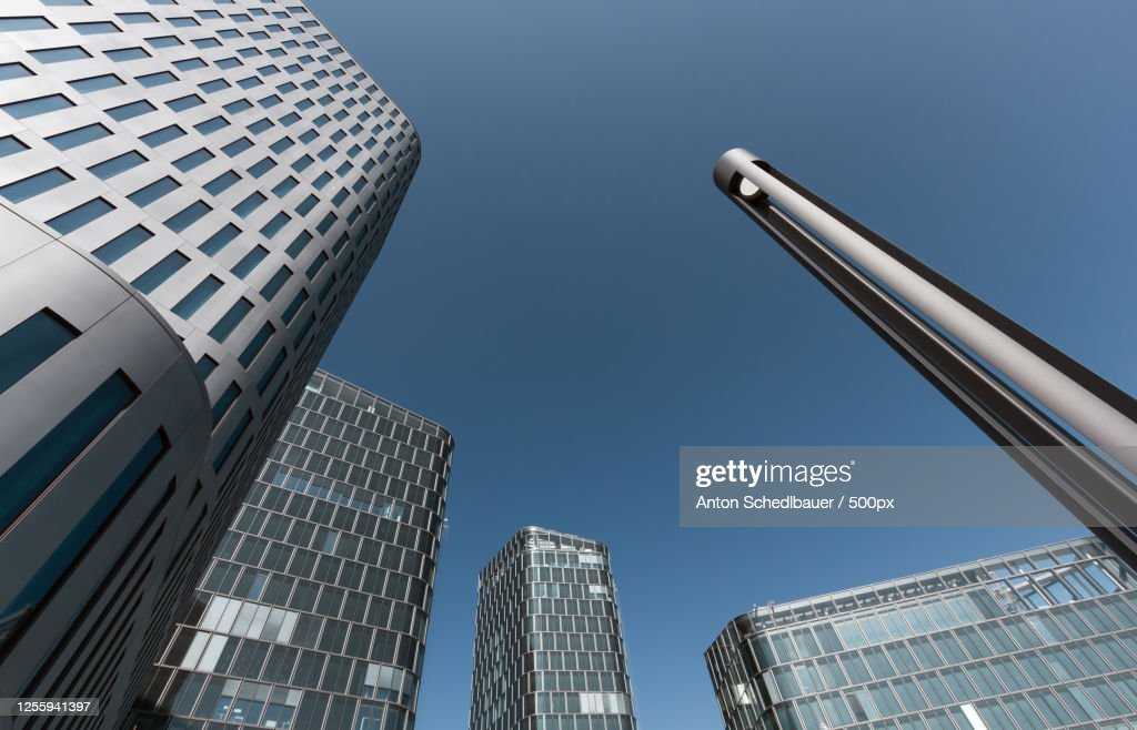 Low angle view of modern buildings : Foto de stock