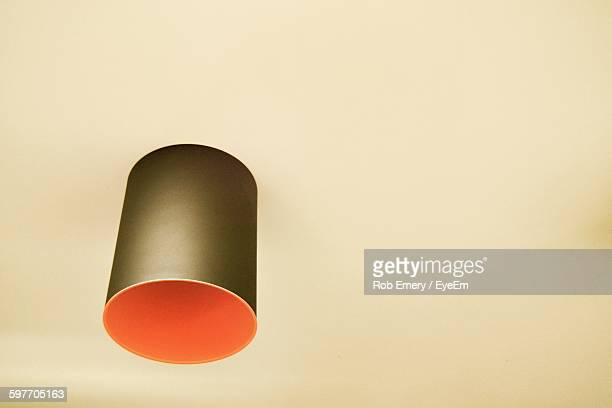 low angle view of modern lamp on ceiling - emery stock photos and pictures