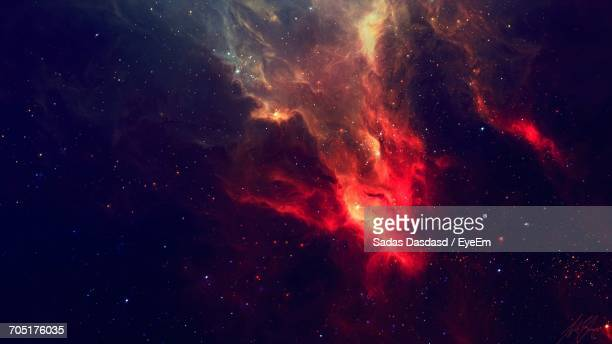 low angle view of moon in sky - galaxy stock pictures, royalty-free photos & images