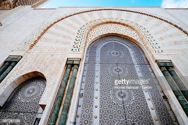 Low Angle View Of Mosque Hassan Ii Against Sky In City