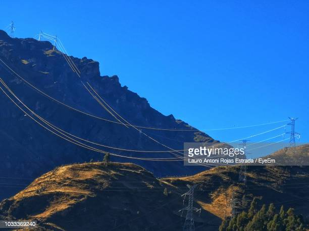 low angle view of mountain against blue sky - lauro stock pictures, royalty-free photos & images