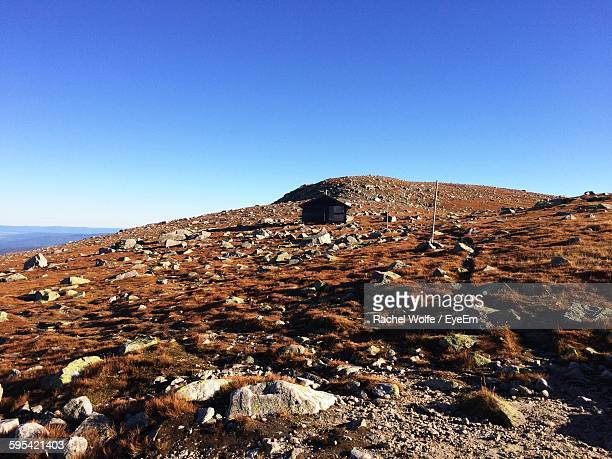 low angle view of mountain against clear blue sky - rachel wolfe stock pictures, royalty-free photos & images