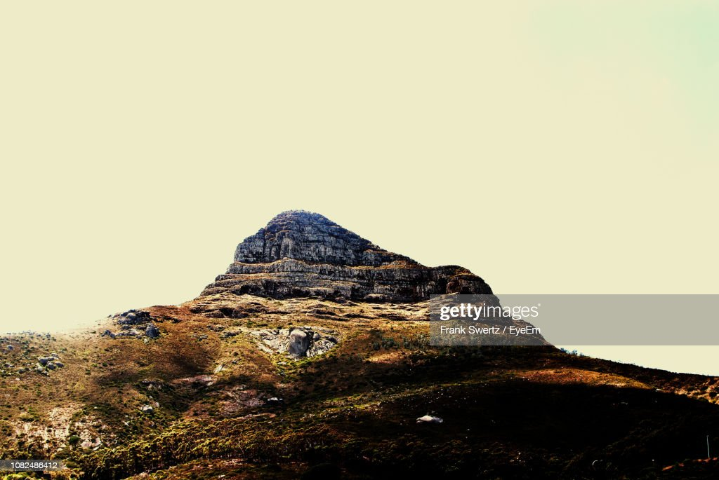Low Angle View Of Mountain Against Clear Sky : Stock-Foto