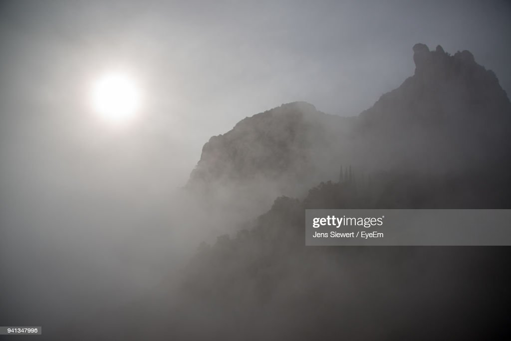 Low Angle View Of Mountain Against Sky : Stock Photo