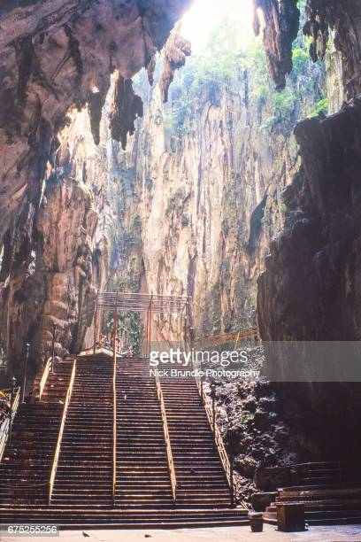 Low Angle View Of Mountain At Batu Caves