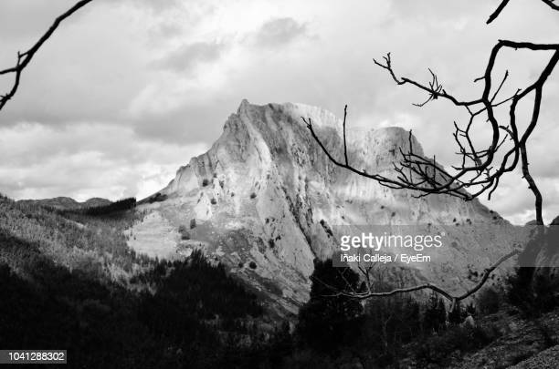 low angle view of mountain range against sky - iñaki mt stock photos and pictures