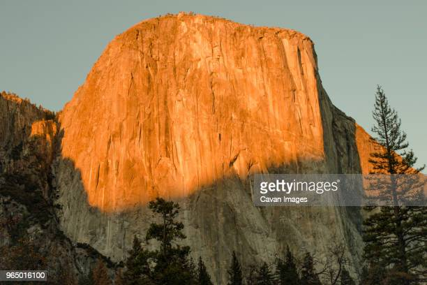Low angle view of mountain Yosemite National Park against clear sky