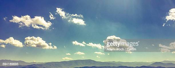 low angle view of mountains against sky - pigeon forge stock pictures, royalty-free photos & images