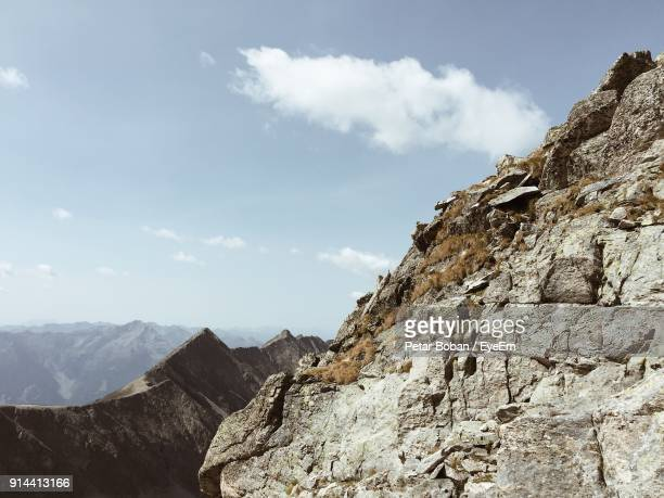 low angle view of mountains against sky - boban stock pictures, royalty-free photos & images