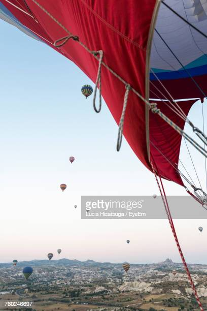 Low Angle View Of Multi Colored Balloon Against Sky