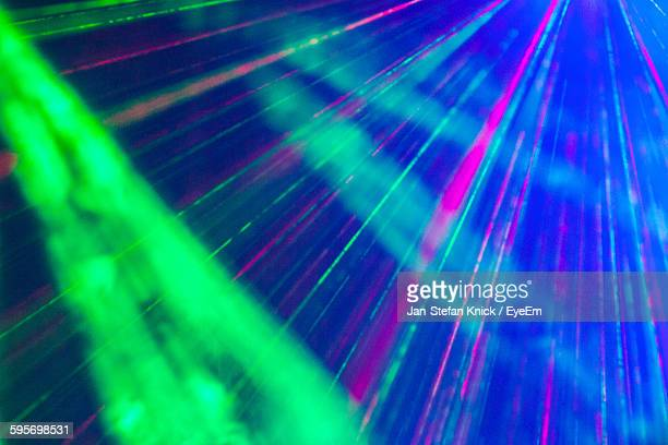 Low Angle View Of Multi Colored Disco Lights