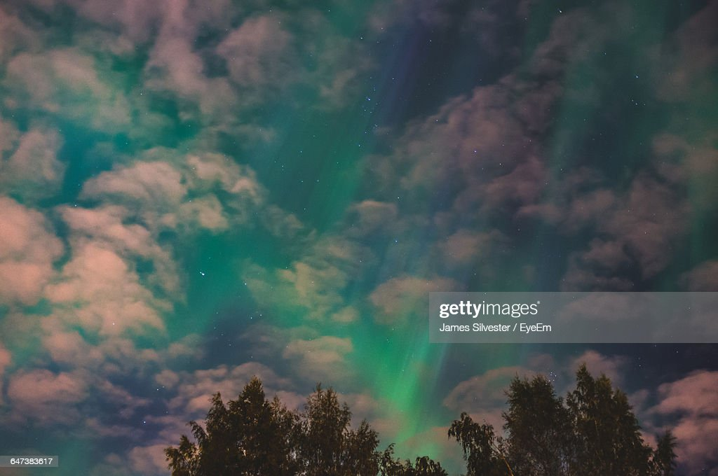 Low Angle View Of Multi Colored Sky : Stock Photo