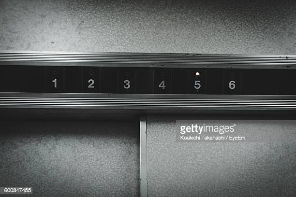 Low Angle View Of Numbers In Elevator
