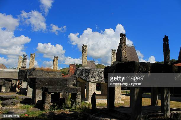 Low Angle View Of Old Buildings Against Sky At Waingapu