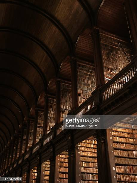 low angle view of old library - library stock pictures, royalty-free photos & images