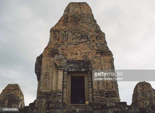 low angle view of old temple against sky - bortes stock pictures, royalty-free photos & images