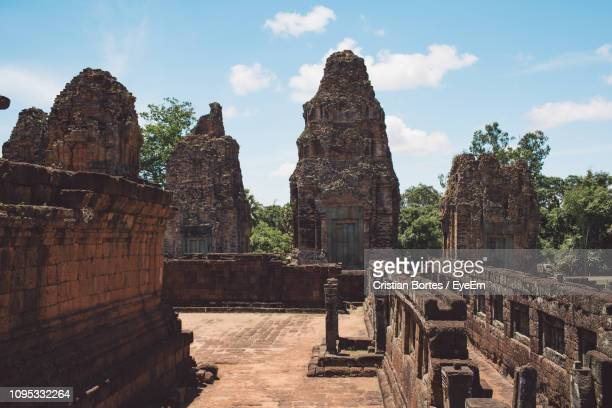 low angle view of old temple sky - bortes stock pictures, royalty-free photos & images