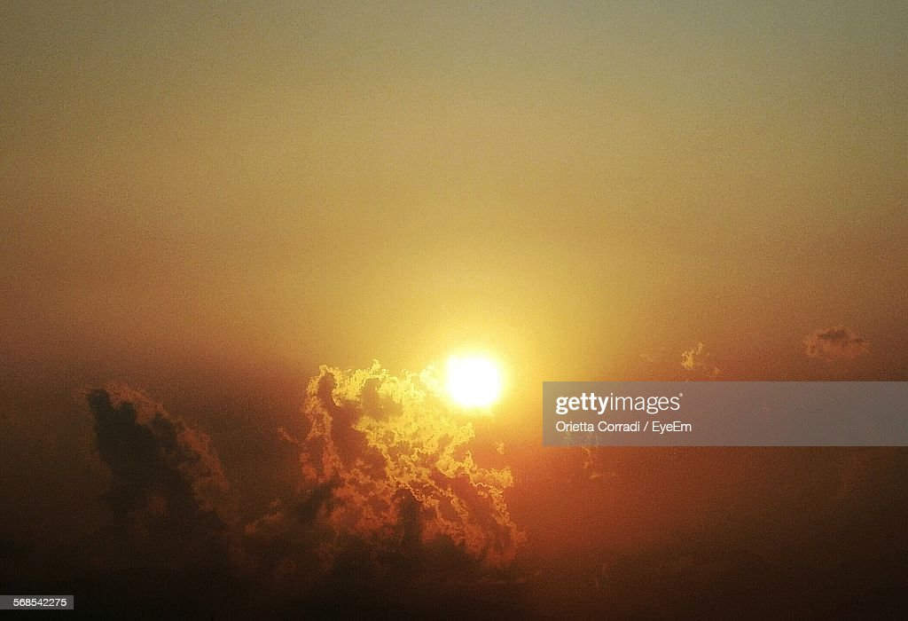 Low Angle View Of Orange Sky : Stock Photo