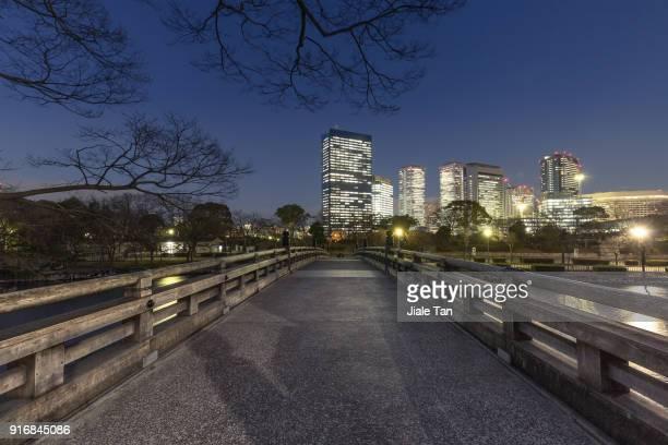 Low angle View of Osaka CBD at Night