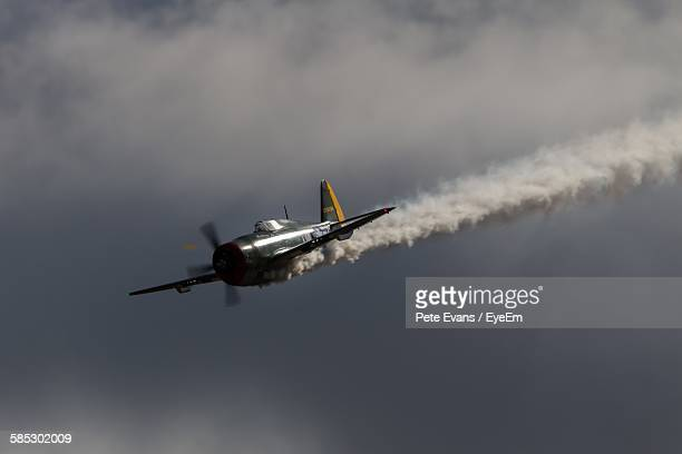 Low Angle View Of P-47 Thunderbolt Flying In Sky