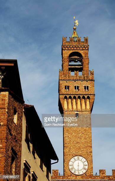 Low Angle View Of Palazzo Vecchio In Town Against Sky