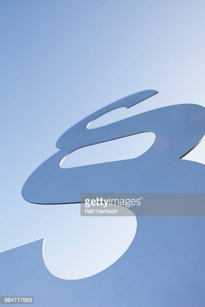 Low angle view of paragraph sign against clear sky