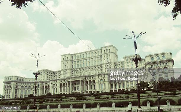 Low Angle View Of Parliament Building Against Sky