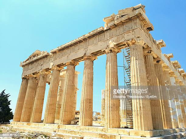 Low Angle View Of Parthenon During Sunny Day