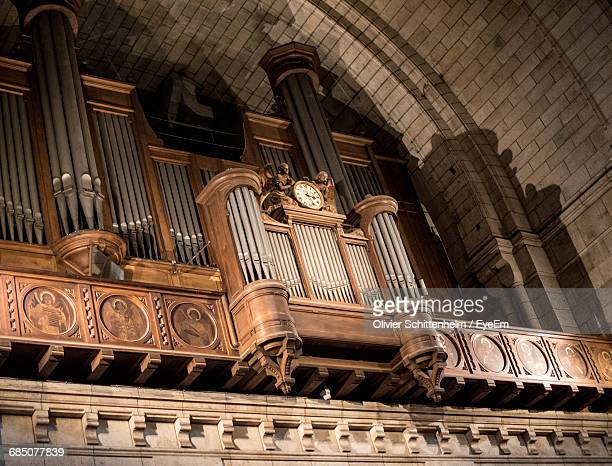 Low Angle View Of Pipe Organ At Sacre Coeur