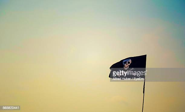 Low Angle View Of Pirate Flag