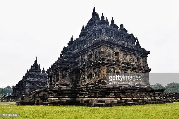 Low Angle View Of Plaosan Temples Against Clear Sky