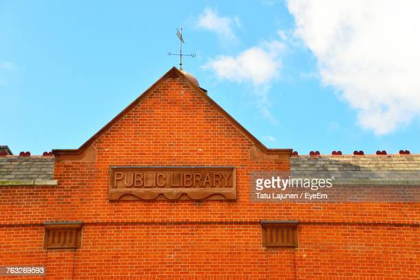 Low Angle View Of Public Library Against Sky