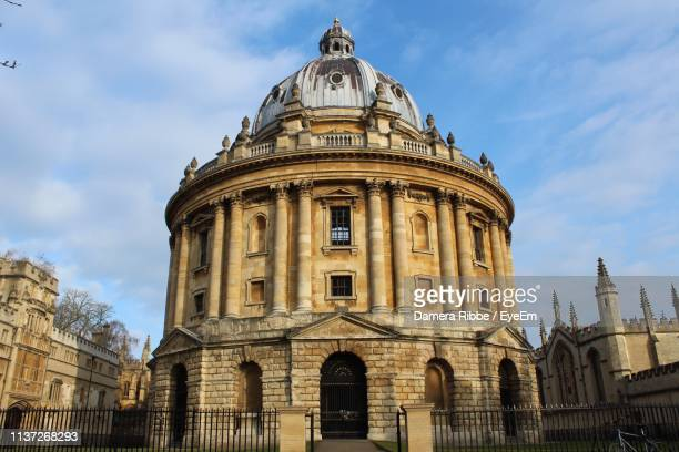 Low Angle View Of Radcliffe Camera Against Cloudy Sky