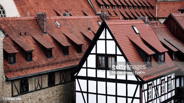 low angle view of residential building - erfurt stock pictures, royalty-free photos & images